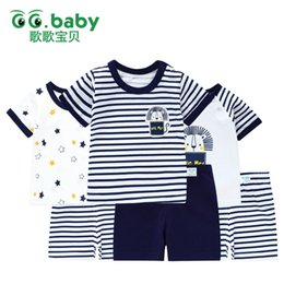 $enCountryForm.capitalKeyWord Australia - 3suits lot Baby Summer Clothing Set Cotton Short Sleeve Kids Sets Striped T-shirt Shorts Outfit For Boys Baby Girl Suits Clothes J190716