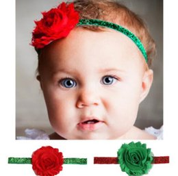 Mexican Christmas Party Decorations Australia - 2 Colors Bling Bling Paillette Infant Hairband Children Headband Girl Christmas Flower Decoration Hair Accessories Hairbands FD3074