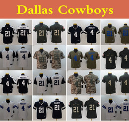 Jerseys service online shopping - Youth Camo Salute to Service Dallas Cowboys nfl Kids Dak Prescott Ezekiel Elliott Stitched Football Jersey