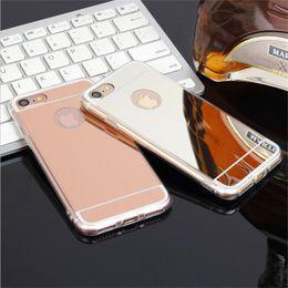 $enCountryForm.capitalKeyWord Australia - Mirror Case Electroplating Chrome Ultrathin Soft TPU Phone Case Cover For Samsung Galaxy S7 S8 S8 Plus iphone 6 7 7 Plus 8 plus