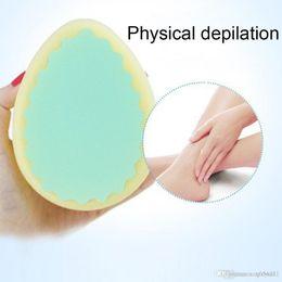 1pc Soft Magic Painless Bath Shower Body Scrub Sponge Pad Women Ladies Facial Leg Arm Body Hair Removal Tool Scrubs & Bodys Treatments