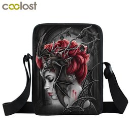 Gothic handbaGs online shopping - Dark Gothic Vampire Beauty Mini Messenger Bag Women Handbag Children School Bags Girls Small Shoulder Bag Crossbody Bags Bookbag