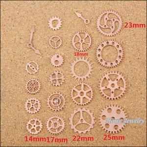 Mix Steampunk Gear Moda Charme Rose Gold roda de metal rodada espaçador Assista Acessórios de ouro Charme liga de zinco encontrar 200 pçs / lote 80052