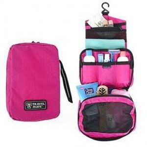 Bolsas de cosméticos maquillaje Travel Mate Bag Artículos de tocador Holder Holder portátil Fundas de lavado de caramelo Organizador con gancho