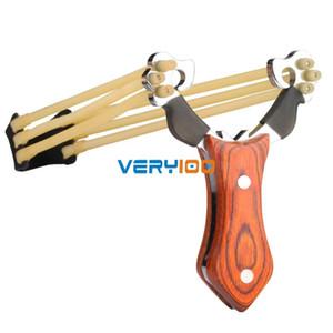 Fionda di caccia di caccia di legno di alta qualità della maniglia di legno di slingshot di alta potenza nuova Trasporto libero! ordina $ 18no traccia
