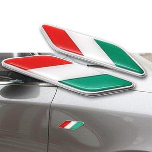 3D Chrome Decalque Etiqueta IT Itália Nation Bandeira Logo Emblema Do Emblema Do Porta Do Motor Do Carro Fender Decorar 2X