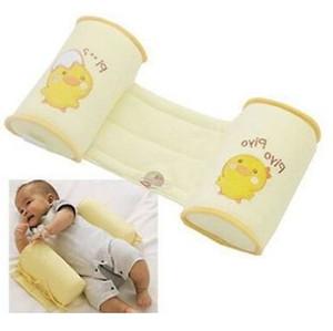 아기 베개 1 조각 편안한 코튼 안티 롤 베개 러블리 아기 유아 안전 만화 수면 헤드 포지셔너 안티 롤오프