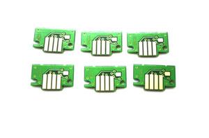 6 piezas / lote, chip de repuesto para tanque de tinta para el tanque de tinta Canon PFI-102 IPF500 | 600 | 700; IPF510 | 610 | 710; cartucho de tinta para plotter IPF605 | 720