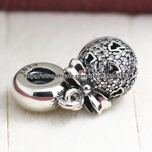 925 Sterling Silver 2014 souhait de Noël Dangle Black Friday charme perle avec CZ s'adapte européen Pandora bijoux bracelets colliers pendentif
