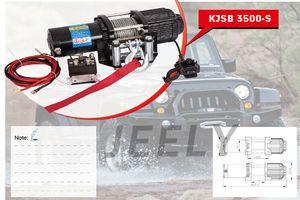12V 3500LB ونش ، ونش كهربائي ، ونش 4X4 / UTV / ATV / SUV حرية الملاحة