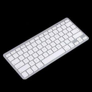 2015 blanco Slim Wireless Bluetooth Keyboard para iPad iPhone iPod Touch PS3 teclado para Android / teléfono / PC / Tablet PC envío gratis