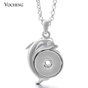 Нуса Дельфин ожерелье имбирь Оснастки любителей ювелирных изделий кулон металлический Кристалл кнопки ожерелье с цепью из нержавеющей стали НН-096