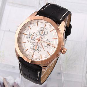 Bei Nuo мужские наручные часы кожа PU круглый циферблат аналоговые Кварцевые спортивные часы Reloj BN07