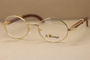 all'ingrosso decorazioni in legno struttura di vetro dell'occhio cornici per le donne o gli uomini vetri di legno cornici in oro argento struttura in metallo Eyewear Frame Size: 53-22-135mm