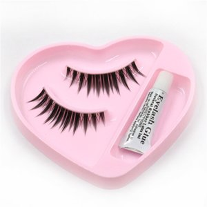 Wholesale-1 pair eyelashes with glue packaging eyelashes transparent stems false eyelashes stage makeup
