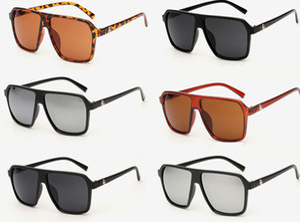 Retro dos homens das mulheres do vintage grande óculos de sol designer de moda óculos de lazer óculos de refletir oversized frame óculos de sol 12 pçs / lote