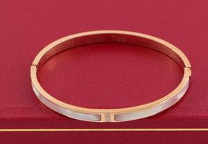 Clássico europeu e americano banhado a ouro 18K rosa banhado a ouro com pulseira natural shell bracelete de diamantes pulseira mãe pin