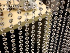catena di perline per la decorazione di cerimonia nuziale Una ghirlanda di cristallo di prisma della catena del prisma di cristallo di livello del grado, fili d'attaccatura di cristallo dell'albero di Natale messi insieme