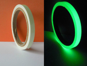 Cinta fotoluminiscente luminosa brillan en la oscuridad cinta de decoración del hogar etapa 12 mm (W) * 3 m (L) envío gratis