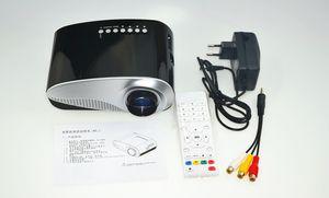 Zoom elétrica portátil Home Theater Vídeo Multimedia Pico Micro LCD Handy LED Mini Projector HDMI USB AV VGA TV Tuner tripé Speaker bonito