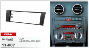 CARAV 11-007 Car Stereo Radio Fascia Plate Panel Kit de marco para AUDI A3 (8P / 8PA) 2003-2008 Stereo facia surround instalar trim fit Dash Kit