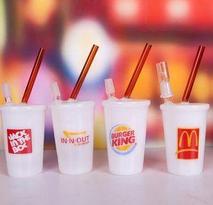 100% de Buena Calidad McDonald's Starbucks Cup Glass Bongs 2015 Nuevo Water Glass Smoke Pipe Oil Rig Recycler Envío gratis