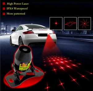 High Power car anti collision laser decorative lamp rear-end warning tail lights license Auto Brake Parking Lamp