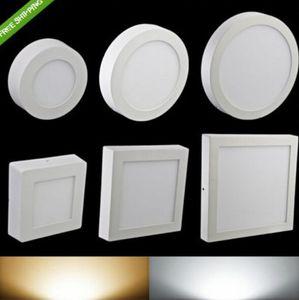 AC85-265V 6W 12W 18W 24W montés en surface downlight à LED panneau lumineux ronde SMD2835 Ultrathin plafonnier cercle lampe pour la cuisine salle de bains