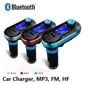 Venda imperdível !!! Melhor Bluetooth Car Kit Mãos Livres MP3 Player Com Transmissor FM Dupla 2 Suporte de Carregador de Carro USB SD Linha em AUX DHL Frete Grátis