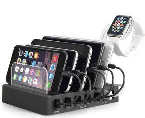 Multi-Dispositivo estação de carregamento Stand Desktop Organizer Compatível com 4/5/6-Port USB Charger para Smartphones e Tablets