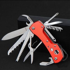 Couteau Rouge Poche / Couteau Pliant 91mm Multifonctionnel En Acier Inoxydable Survie À L'extérieur Pliant Couteau D'armée Livraison Gratuite