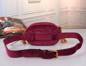 Yüksek qualityh Kış kadife bel çantası En popul kadınlar için lüks çanta çanta tasarımcısı mini messenger çanta Çapraz vücut Omuz çantaları 03
