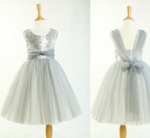 Тюль платье девушки цветка, серый малыш девушка платье, спинки платье девушки цветка, деревенский девочка платье, блестки платье девушки цветка для свадьбы