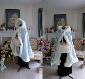 2021 Nueva llegada Envío gratis Wedding Bridal Wraps Winter Chaquetas nupciales de invierno Fores Cálido Cape nupcial