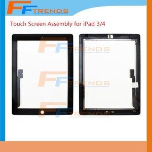 شاشة تعمل باللمس لباد 2 3 4 iPad3 iPad4 iPad2 شاشة تعمل باللمس محول الأرقام مع زر الصفحة الرئيسية الجمعية شاشة زجاج استبدال شاشة تعمل باللمس
