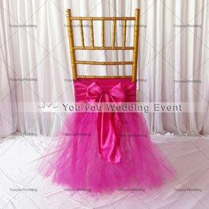 Varios colores Silla de tul Sash Tutu Stain Sash Tutu 1 UNIDS MOQ Con Envío Gratis Vestido En CHIAVARI CHAIR