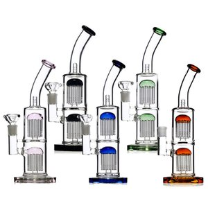 Fabrikpreis 11,5 Zoll Ölplattform Bong dickes Glaswasserrohr-Recycler Bong mit doppeltem percolator für das Rauchen des freien Verschiffens