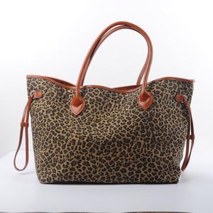 Femmes Cheetah Toile Big Tote solide Leopard toile Personnaliser Imprimer épaule mode Sac à main poignée supérieure