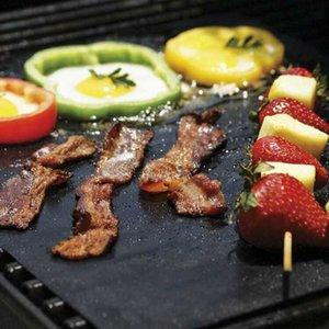 ارتفاع درجة الحرارة غير عصا الشواء حصيرة الخبز ورقة في عشاء الشواء حصيرة تفلون سادة الشواء الحجم حوالي 40 * 36.5 سنتيمتر LDH31