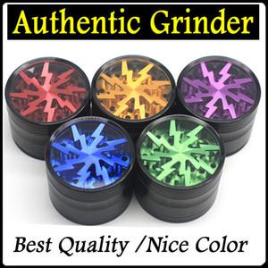 Iluminação Herb Grinders 63 milímetros liga de alumínio Tobacco Grinders Limpar Top Janela Lighting Grinder 4 Pieces Grinder VS Sharpstone Grinders