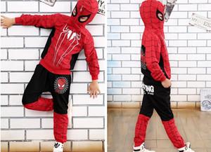 Nuevo Spiderman Baby Boys Conjuntos de ropa de algodón traje deportivo para niños ropa primavera Spider Man Cosplay trajes KIds ropa conjunto