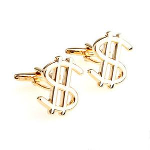 Gold Dollar Mark Cufflinks French Cufflink Gold Dollar Mens Fashion Accessories