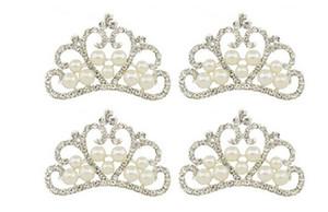 10 adet Gümüş Kaplama Kristaller İnciler Rhinestones Taç Scrapbooking Craft Için Yeni Gelin Dekor