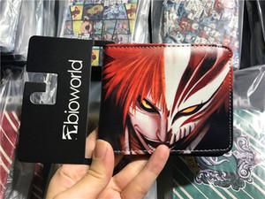 새로운 도착 애니멀 블리치 지갑 Kurosaki Ichigo 인쇄 짧은 냅킨 지갑 카드 홀더가있는 지갑