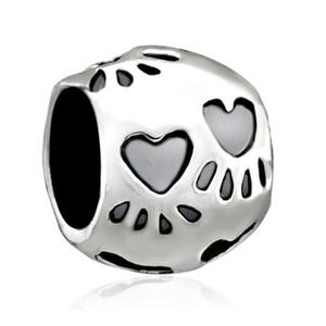 Персонализированные ювелирные изделия собака лапы печати европейский шарик металла Шарм дамы браслет с большим отверстием Pandora Chamilia совместимы