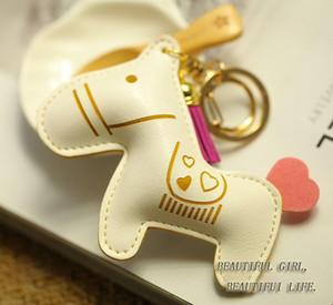2016 الأزياء والمجوهرات الحصان مفتاح سلسلة المفاتيح حلية حامل مفتاح خواتم للنساء الجدة هدية مبتكرة البنود حقيبة قلادة