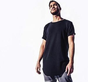 Tall Eğilimler Tee Kavisli Giyim Tasarımcısı Homme Giysileri Büyük T Gömlek Citi Genişletilmiş Hem Beyaz Düz ve Mens T Gömlek EWVSU