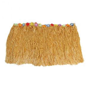Decoración vajilla de color de flores con incrustaciones de PP Artificial Grass Skirt Tabla hawaiana tropical del partido de Luau