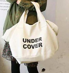 Wholesale-Hot Stylish Fashion Handbag Larger Letter Printed Shoulder Shopping Clutch Large Bag White Black bolsa women messenger Bag