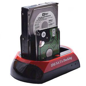 """2.5 """"3.5"""" 2 SATA 1 IDE HDD disque dur double station d'accueil USB HUB Reader lecteur de disque dur externe Livraison gratuite"""